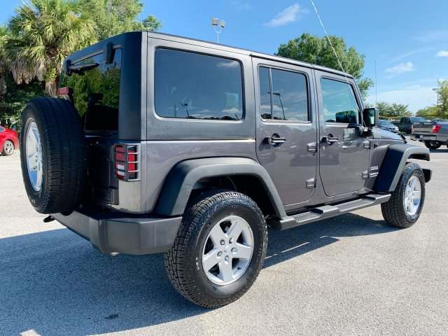 Pre-Owned 2016 JEEP WRANGLER UNLIMI SPORT